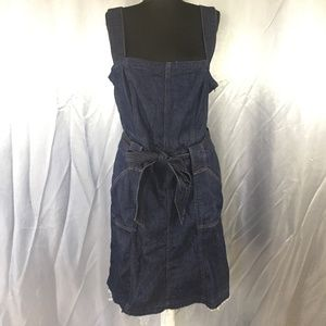 7 For All Mankind womens stretch jean tie dress